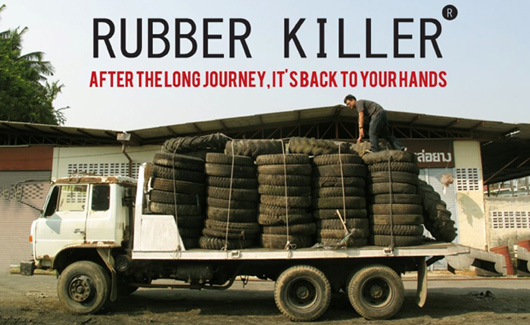 RUBBER KILLER<br /> 廃タイヤを使ったオリジナルコースターづくり