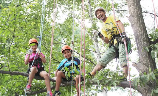 猿山 MONKEY MOUNTAIN<br /> 木登り体験