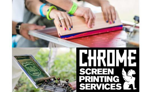 スクリーンプリント体験<br />supported by CHROME